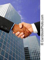 Negocios internacionales con oficinas