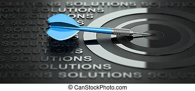 Negocios o consultoría de marketing, soluciones creativas