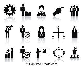 Negocios y iconos de gestión