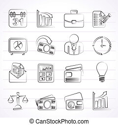 Negocios y iconos de oficina