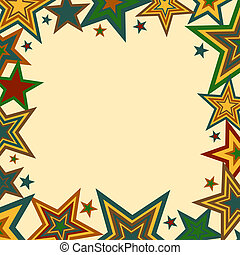 negrita, estrellas, frontera