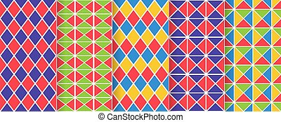 negro, blanco, seamless, pattern., illustration., vector, arlequín, plano de fondo, rhombuses.