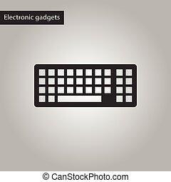 negro, estilo, blanco, icono de la computadora, teclado