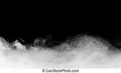 negro, fondo, denso, aislado, humo