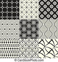 Negro geométrico y blanco