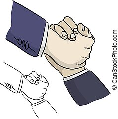 negro, líneas, dibujado, ilustración, el suyo, porción, bosquejo, vector, amigo, primer plano, garabato, aislado, hombre de negocios, plano de fondo, blanco, mano