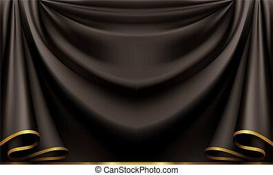 negro, lujo, plano de fondo