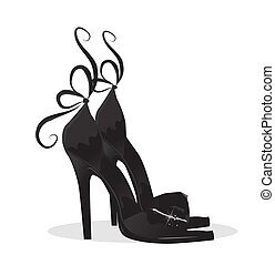 negro, shoes