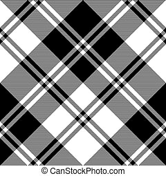 negro, tartán, seamless, patrón, blanco, nacional