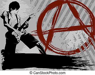 Negro y gris fondo de punk rock