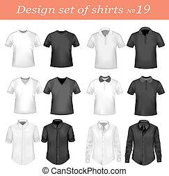 Negros y blancos camisas de polo