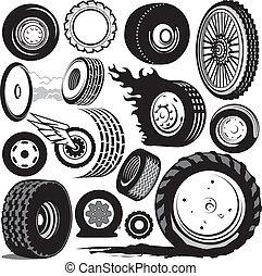 neumático, colección