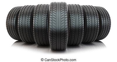 neumáticos, automotor, grupo