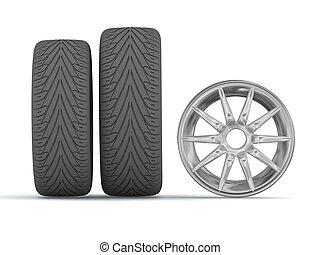 neumáticos, disco