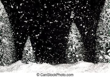 Nevar el fondo de invierno