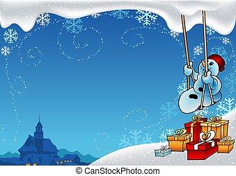 nevoso, navidad
