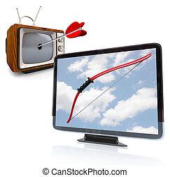 New HDTV vence a la vieja televisión CRT