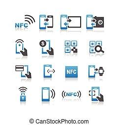 NFC tecnolgy icono set