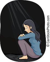 niña, depresión