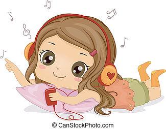 niña, música