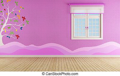 niña, playroom, rosa