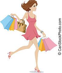niña, shopaholic