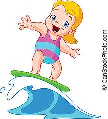 niña, surf