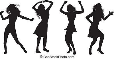 niñas, bailando