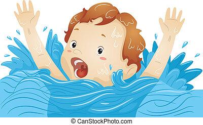 niño, ahogo