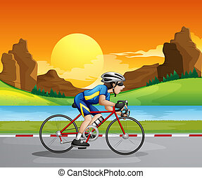 niño, biking