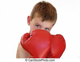 niño, boxeo