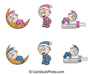 Niño con diseño de ilustración de pijamas