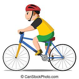 Niño de bicicleta