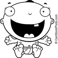 Niño de dibujos animados feliz