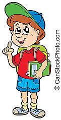 niño, escuela, aconsejar