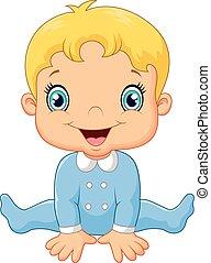Niño feliz de dibujos animados