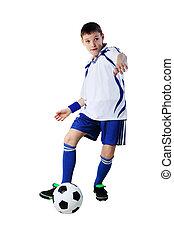 niño, futbol, futbolista, pelota