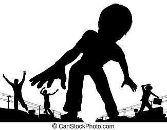 niño, gigante