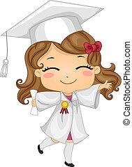 niño, graduado