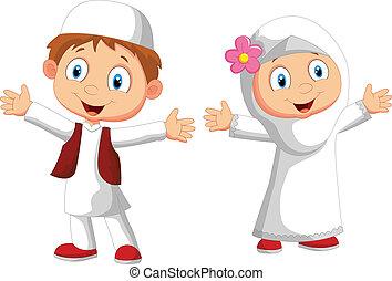 Niño musulmán feliz