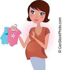 ¿Niño o niña? Mujer embarazada.