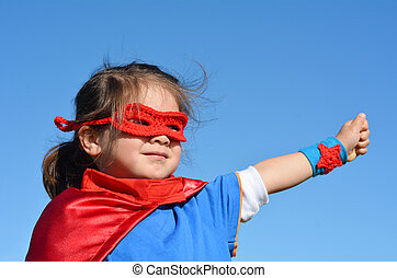 Niño superhéroe - poder femenino