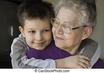niño, witrh, abuelita