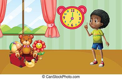 Niño y juguetes