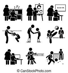 Niños aprendiendo pictograma