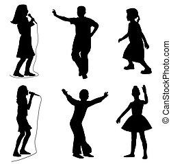 Niños cantando danza