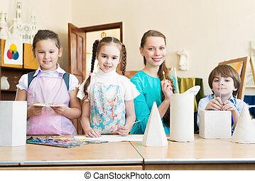 Niños con el profesor