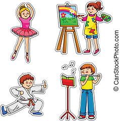 Niños con hobbies