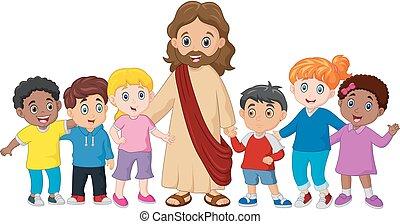 Niños con Jesucristo