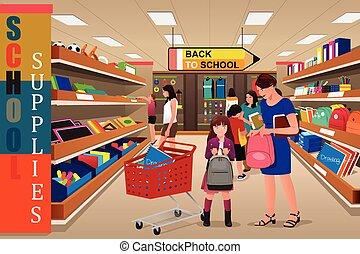 Niños con sus padres comprando droga
